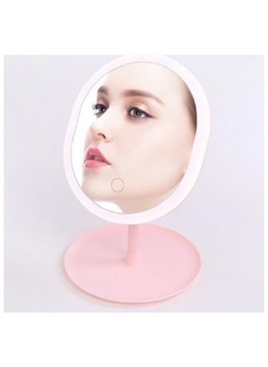 Bludfire Makyaj Aynası Led Işıklı Dokunmatik Makyaj Lambası Takı Tabaklı PEMBE G1 Renkli